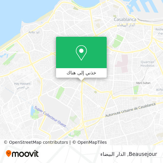 خريطة Beausejour