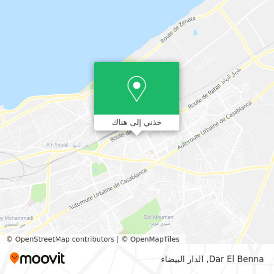 خريطة Dar El Benna