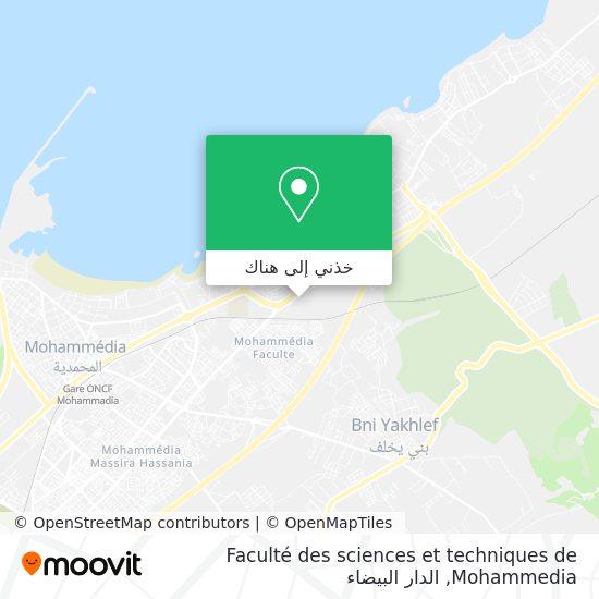خريطة Faculté des sciences et techniques de Mohammedia