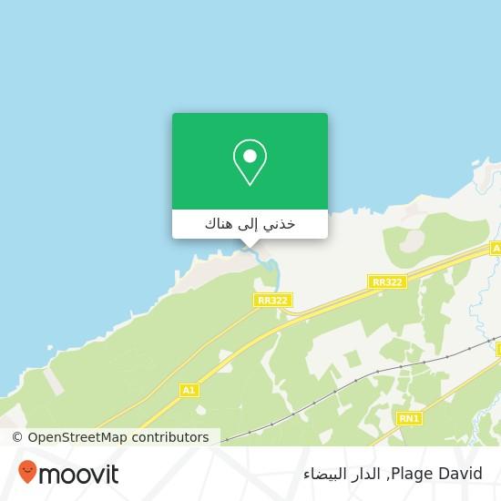 خريطة Plage David