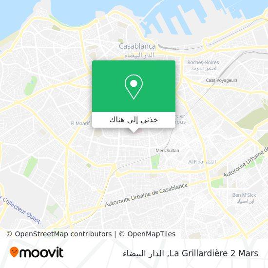 خريطة La Grillardière 2 Mars