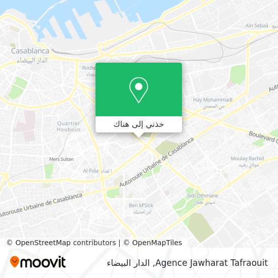 خريطة Agence Jawharat Tafraouit