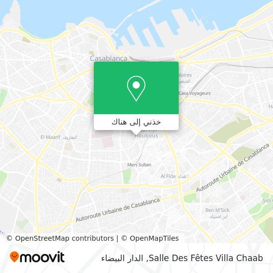 خريطة Salle Des Fêtes Villa Chaab
