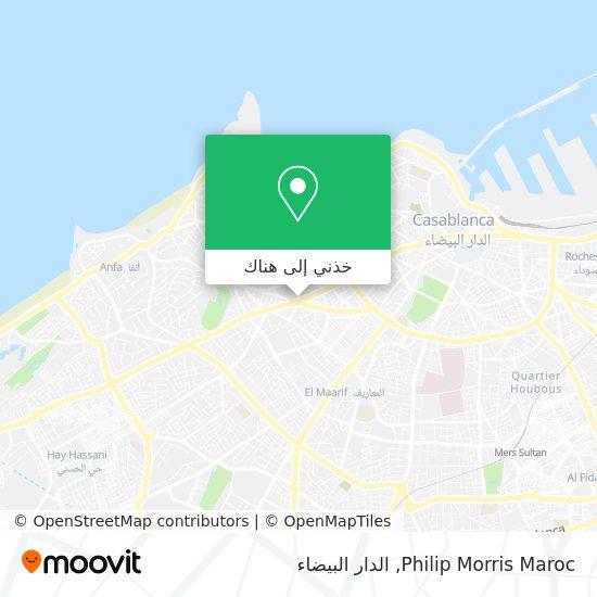 خريطة Philip Morris Maroc