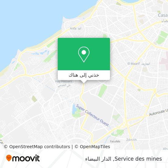 خريطة Service des mines