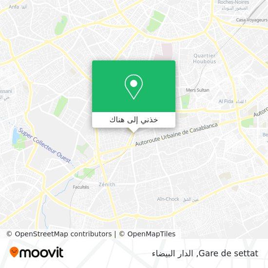 خريطة Gare de settat