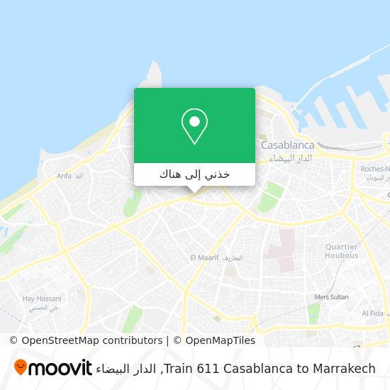 خريطة Train 611 Casablanca to Marrakech