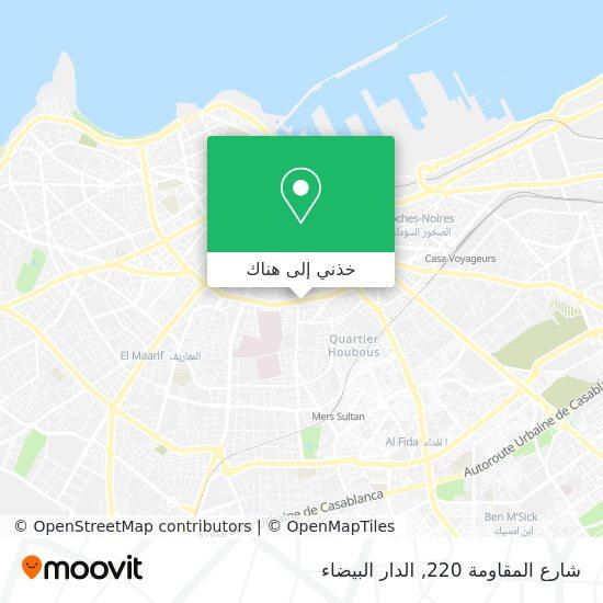 خريطة شارع المقاومة 220