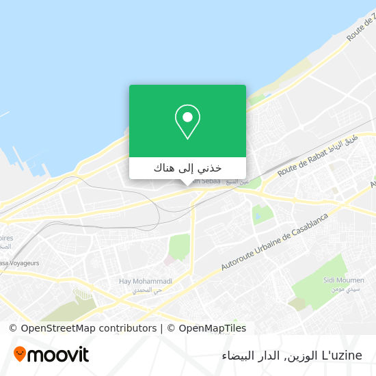 خريطة L'uzine الوزين