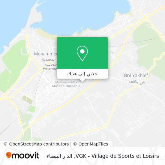 خريطة VGK - Village de Sports et Loisirs