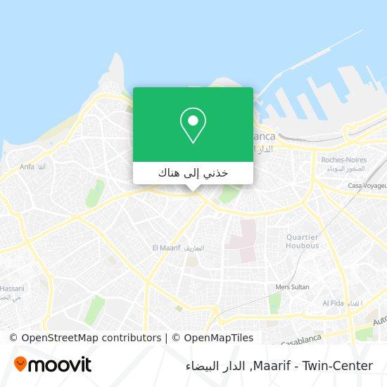 خريطة Maarif - Twin-Center