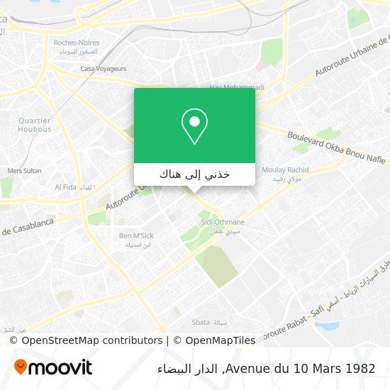 خريطة Avenue du 10 Mars 1982