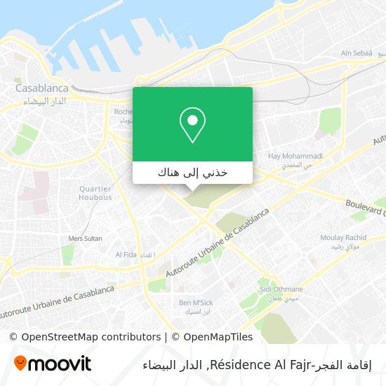 خريطة إقامة الفجر-Résidence Al Fajr