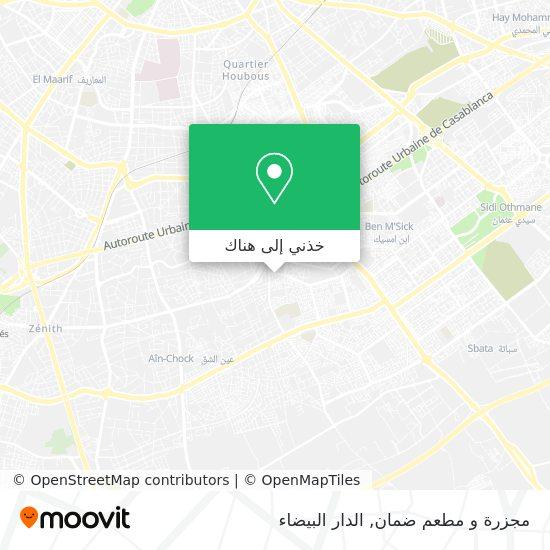 خريطة مجزرة و مطعم ضمان
