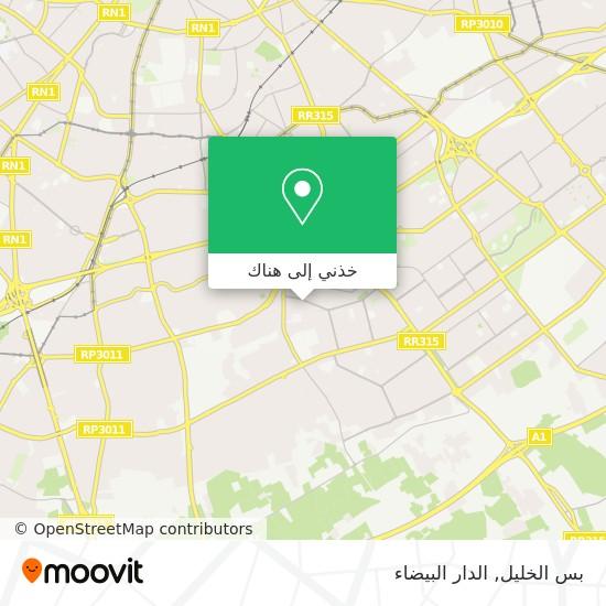 خريطة بس الخليل