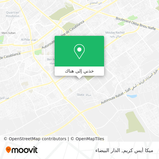 خريطة ميكا أيس كريم