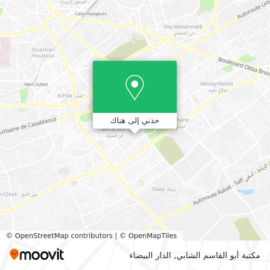 خريطة مكتبة أبو القاسم الشابي