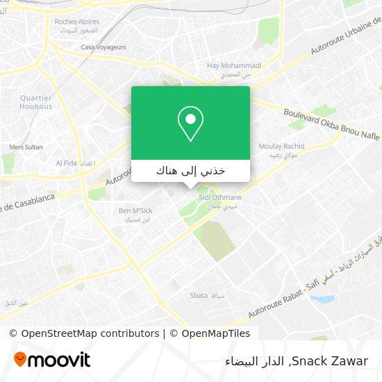 خريطة Snack Zawar
