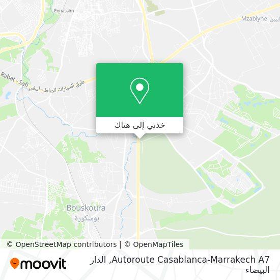 خريطة Autoroute Casablanca-Marrakech A7