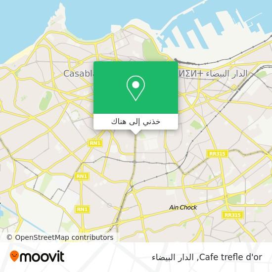خريطة Cafe trefle d'or