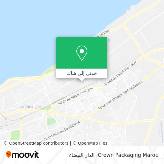 خريطة Crown Packaging Maroc