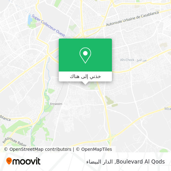 خريطة Boulevard Al Qods