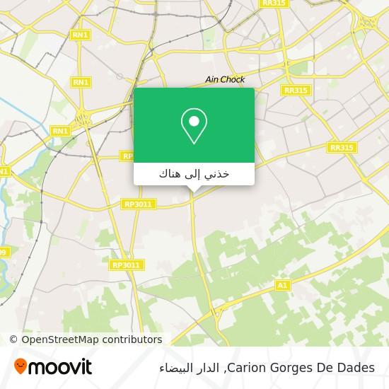 خريطة Carion Gorges De Dades