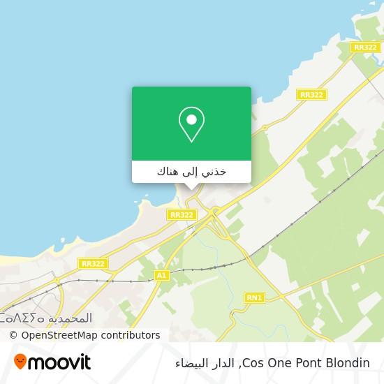 خريطة Cos One Pont Blondin