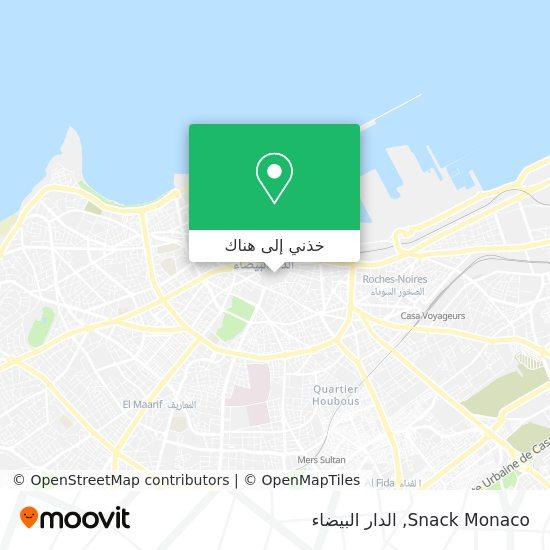 خريطة Snack Monaco