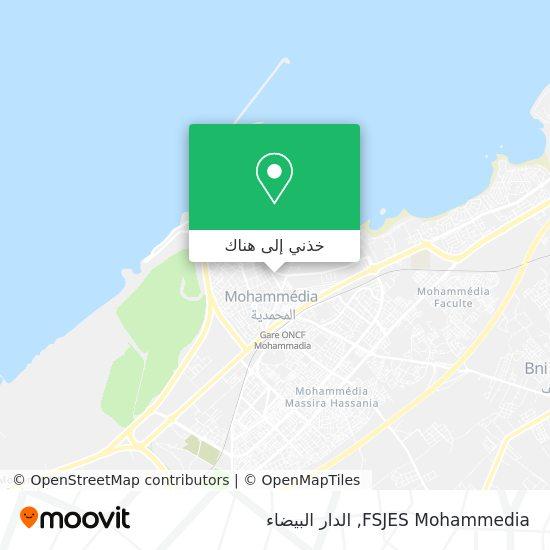 خريطة FSJES Mohammedia