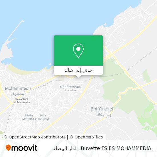 خريطة Buvette FSJES MOHAMMEDIA
