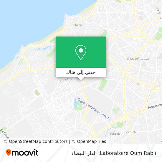 خريطة Laboratoire Oum Rabii