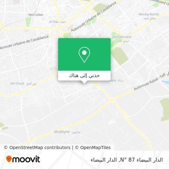 خريطة الدار البيضاء N° 87