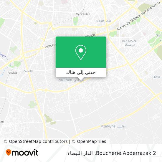 خريطة Boucherie Abderrazak 2