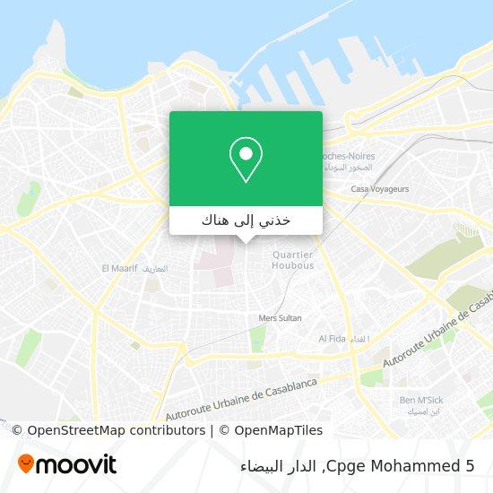 خريطة Cpge Mohammed  5