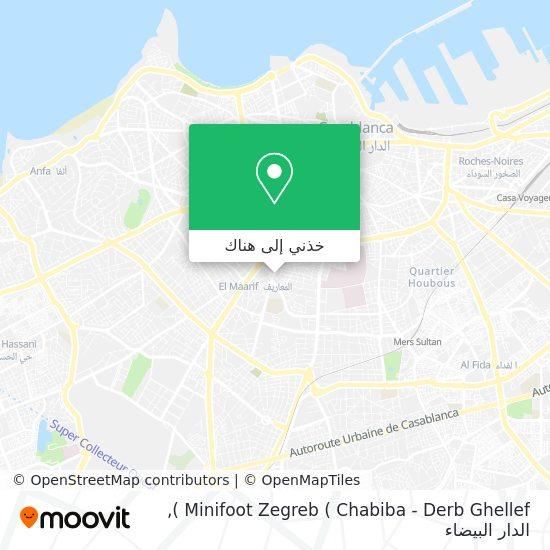 خريطة Minifoot Zegreb ( Chabiba - Derb Ghellef )