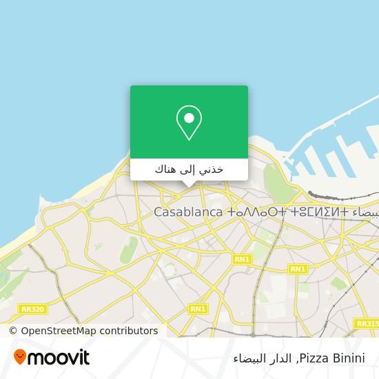 خريطة Pizza Binini