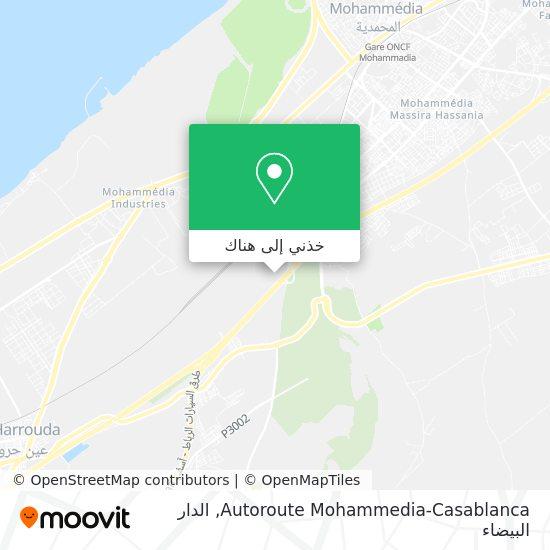 خريطة Autoroute Mohammedia-Casablanca