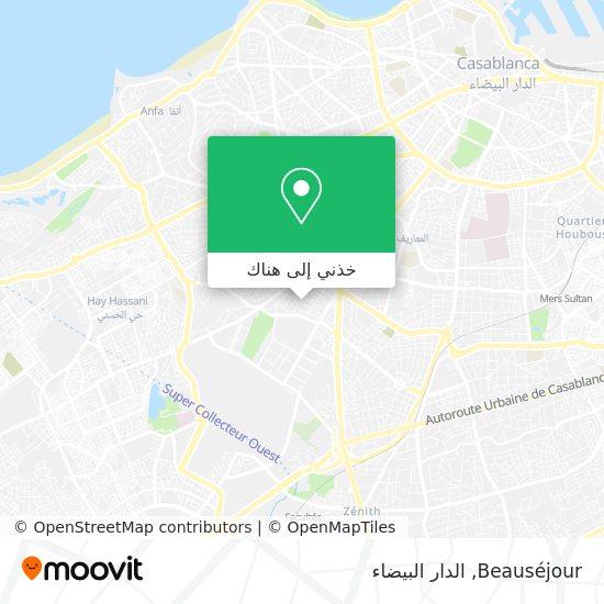 خريطة Beauséjour