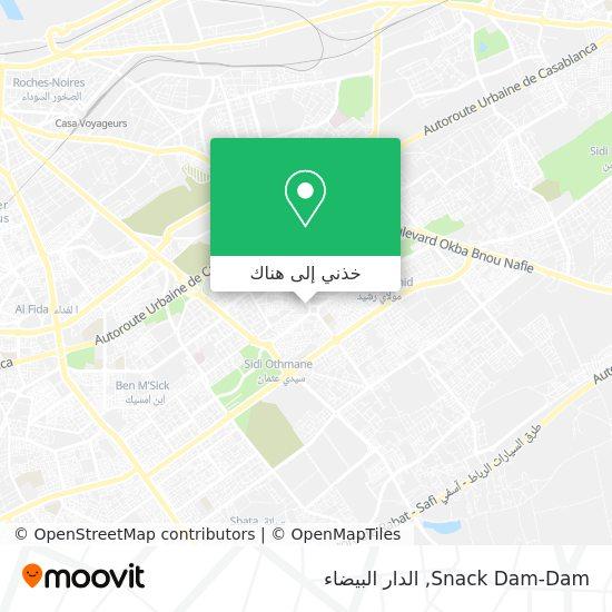 خريطة Snack Dam-Dam