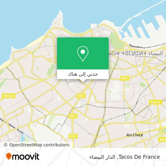خريطة Tacos De France