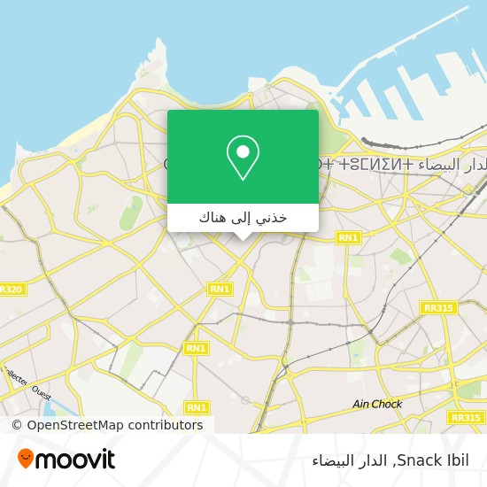 خريطة Snack Ibil