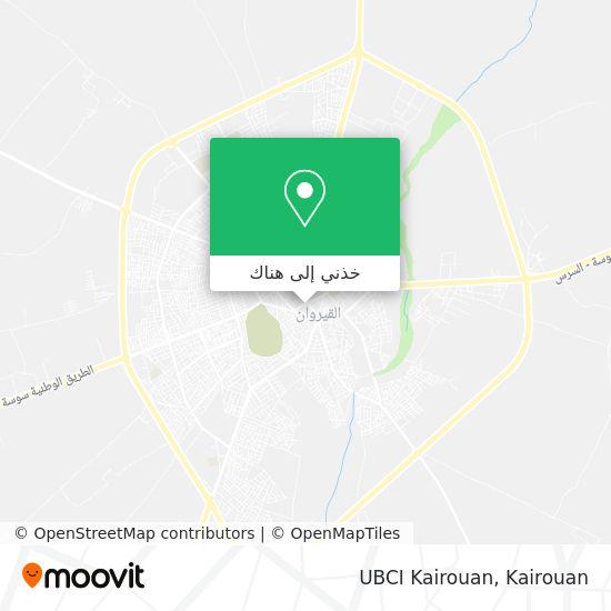 خريطة UBCI Kairouan