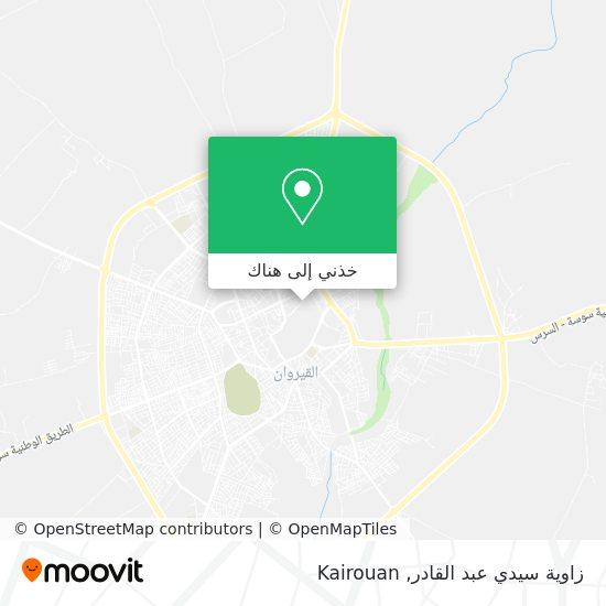 خريطة Zaouia Sidi Abdel Kader