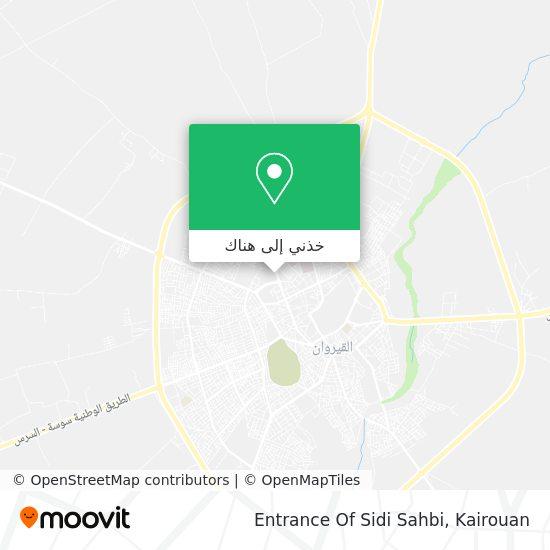 خريطة Entrance Of Sidi Sahbi
