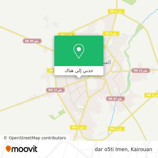 خريطة dar o5ti Imen