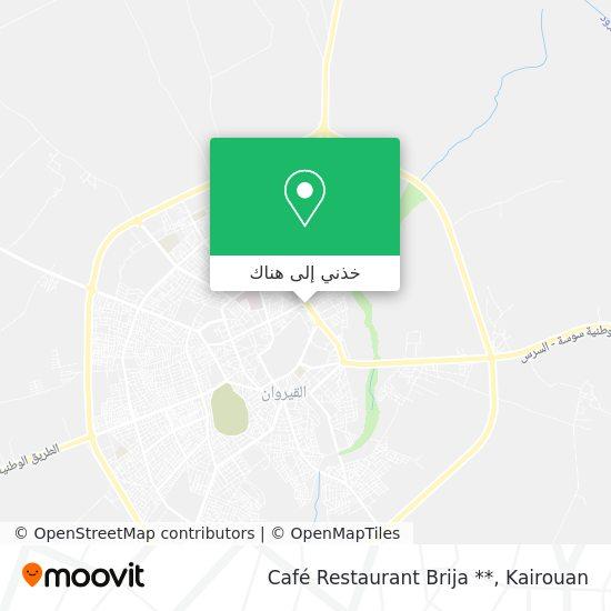 خريطة Café Restaurant Brija **