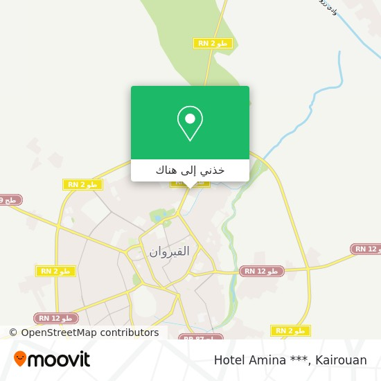 خريطة Hotel Amina ***