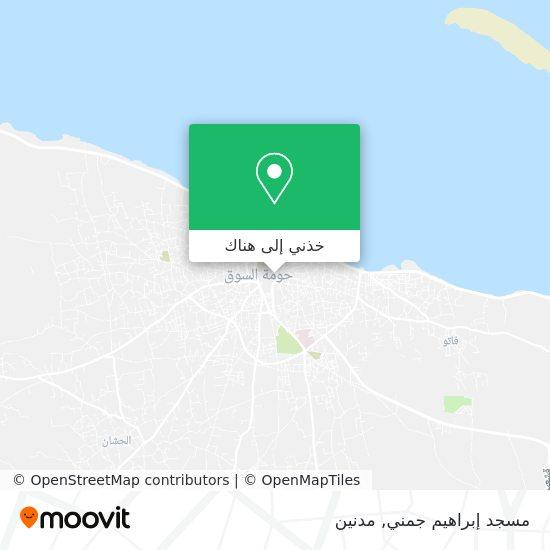 خريطة مسجد إبراهيم جمني
