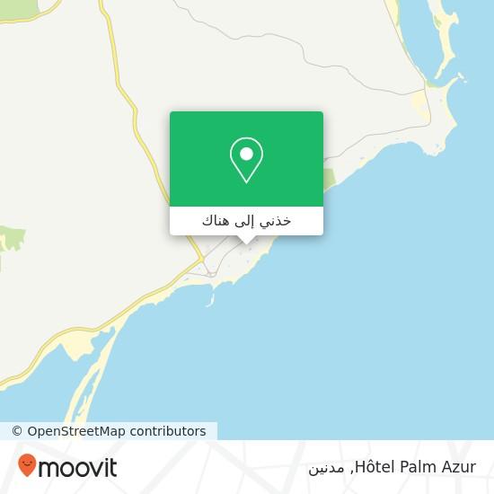 خريطة Hôtel Palm Azur